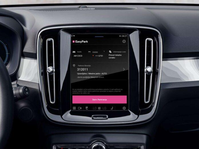 Volvo C40 Recharge in EasyPark app